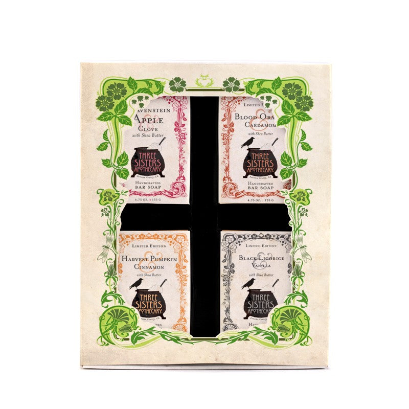 Three Sister's Four Bar Soap Sampler Boxed Gift Set