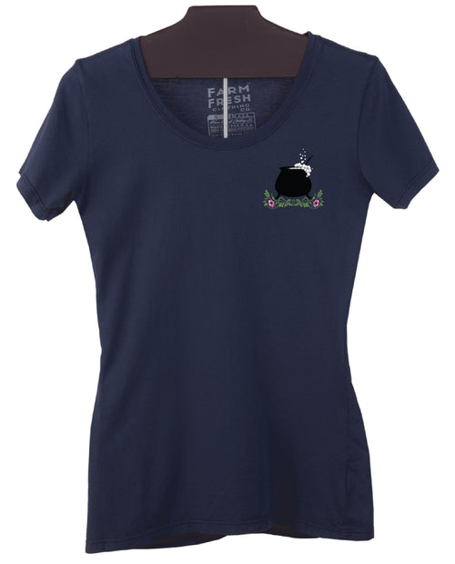 Soap Cauldron Women's Fine Scoop T-Shirt - Navy