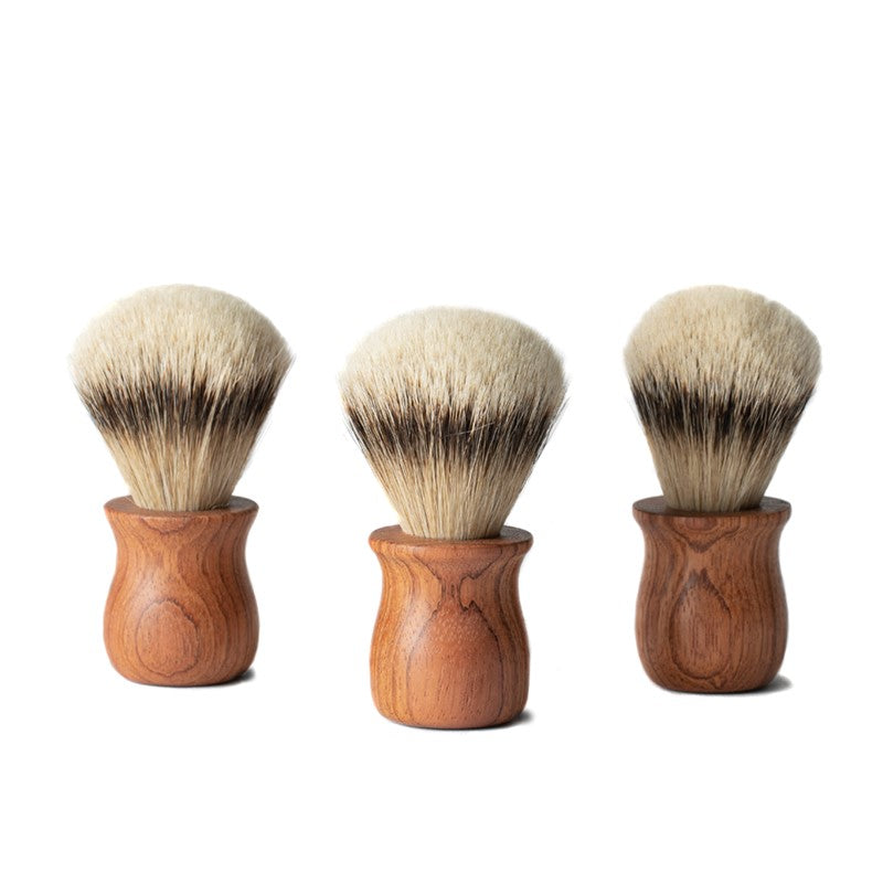 Brazilian Cherry Handcrafted Shave Brush - Pure Badger Bristle
