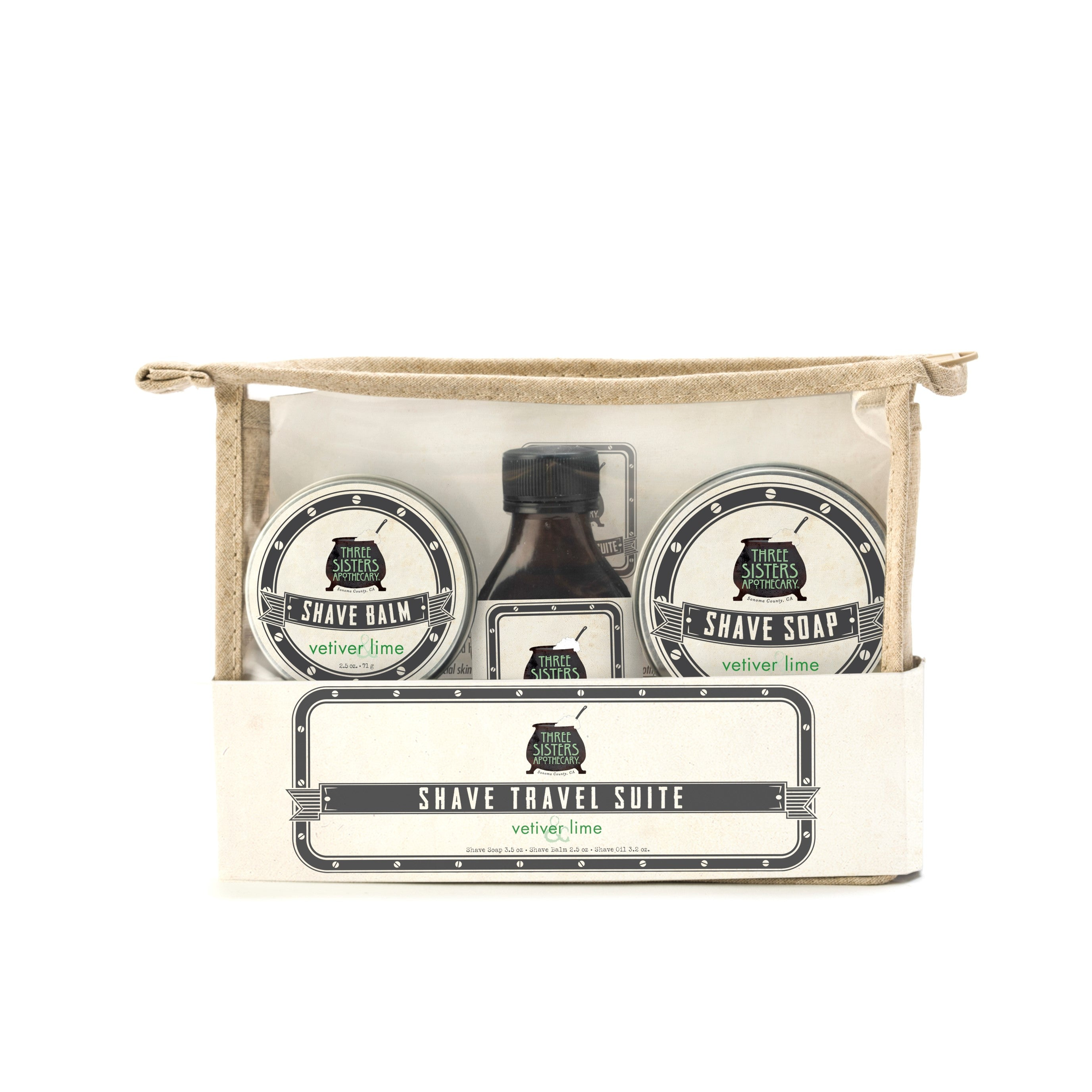 Three Sisters Apothecary Shave Travel Gift Set