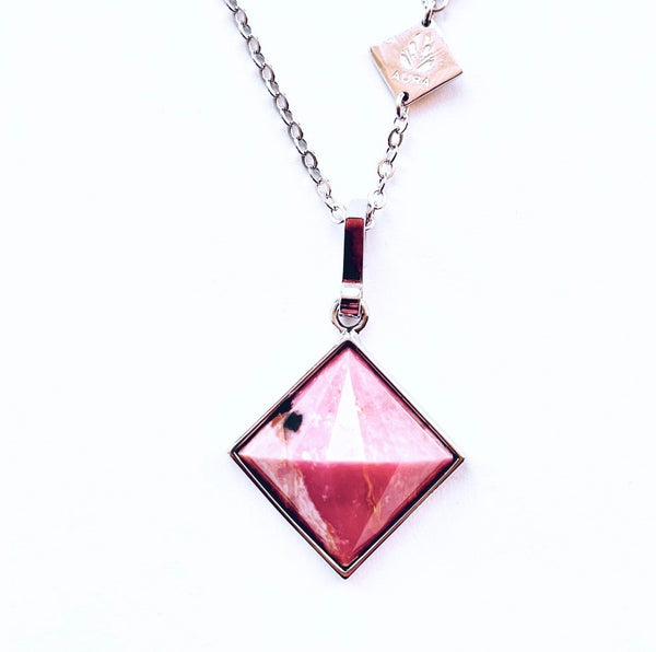 Rhodonite AURA Medium Pendant