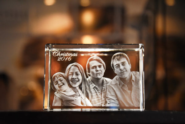 3D Crystal Photo Cube - Large