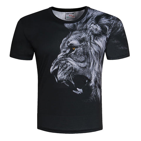 Fashion Men/Women T-shirt 3d lion Print Designed