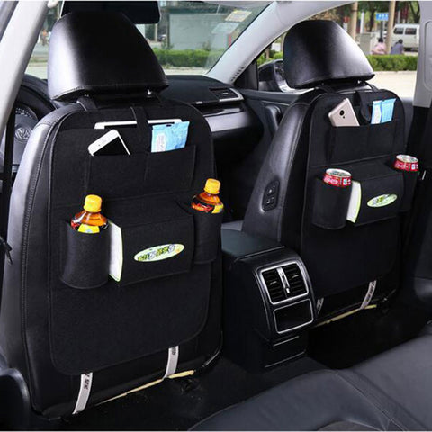 Car Seat Bag Organizer,Woolen Felt Seat Back Protectors for Kids