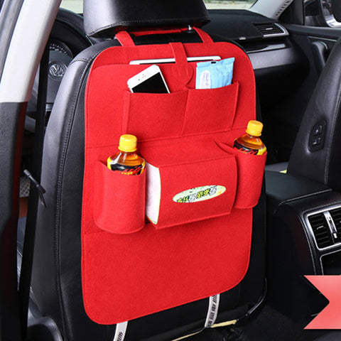 Car Seat Bag OrganizerWoolen Felt Back Protectors For Kids