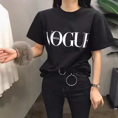 Fashion Summer Girl Short Sleeve Tops Clothes for Women VOGUE