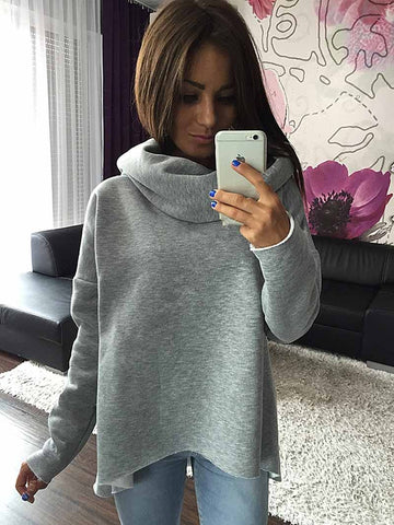 Women Clothes Hoodies Scarf Collar