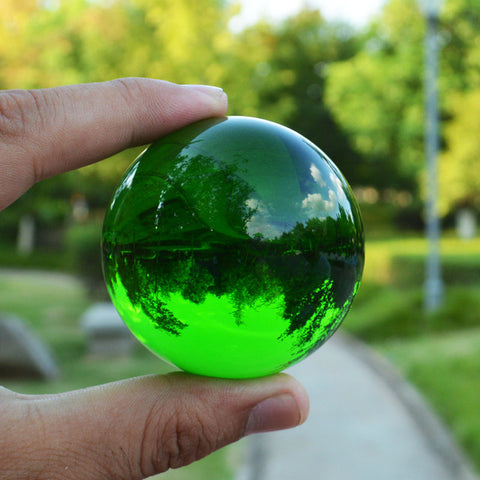 Multicolor Crystal Ball Asian Rare Natural Magic Beads Healing Sphere