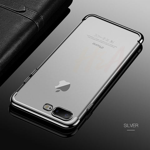 Luxury Plating Clear Case For iPhone Transparent Silicon Phone