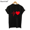 Image of Cotton Love Print T Shirt For Womens Summer T-shirt