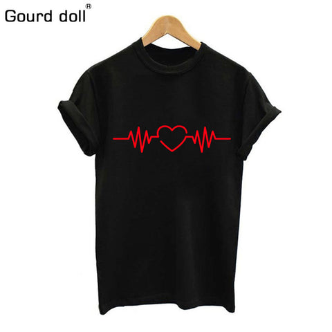 Cotton Love Print T Shirt For Womens Summer T-shirt