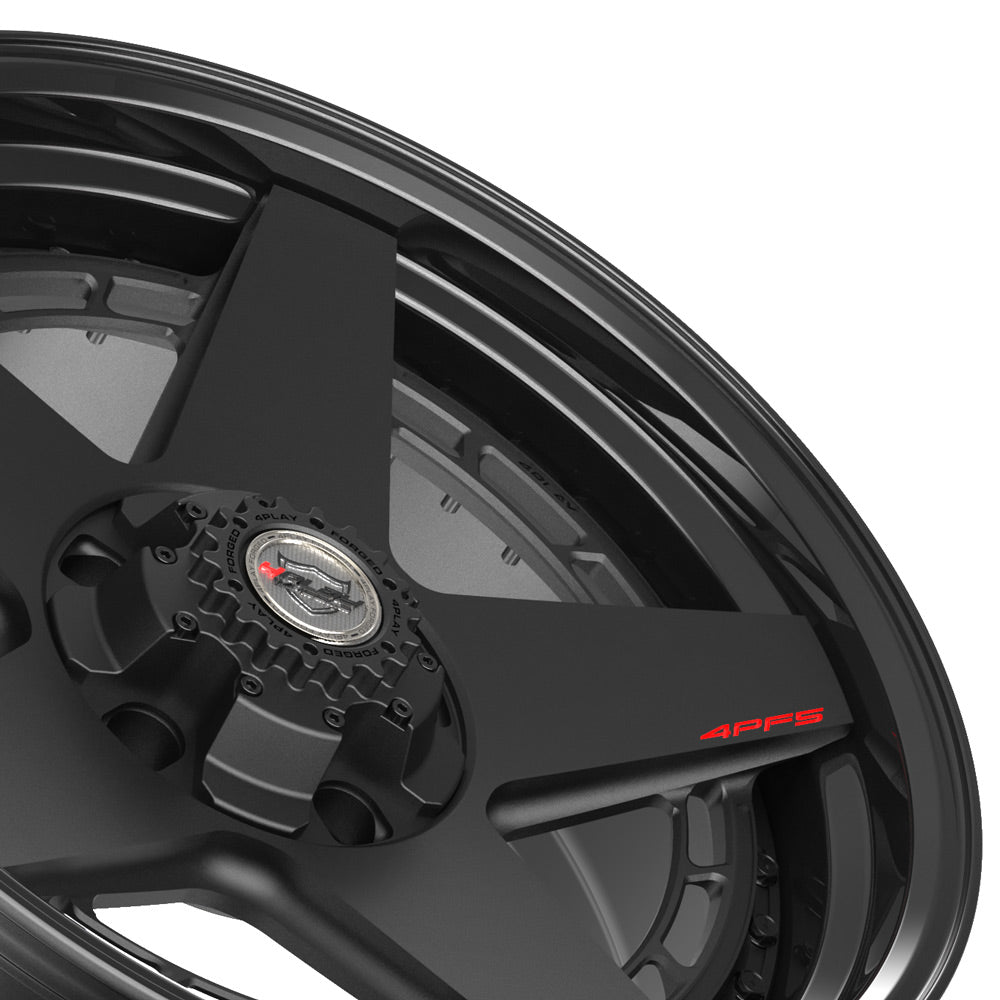 20x9 4PLAY Wheel for Ram-Dodge-Jeep-GM-Ford 4PF5 - Gloss Black Barrel with Matte Center|Suncoast Wheels high quality affordable replacement rims, replica OEM stock wheels, quality budget rims