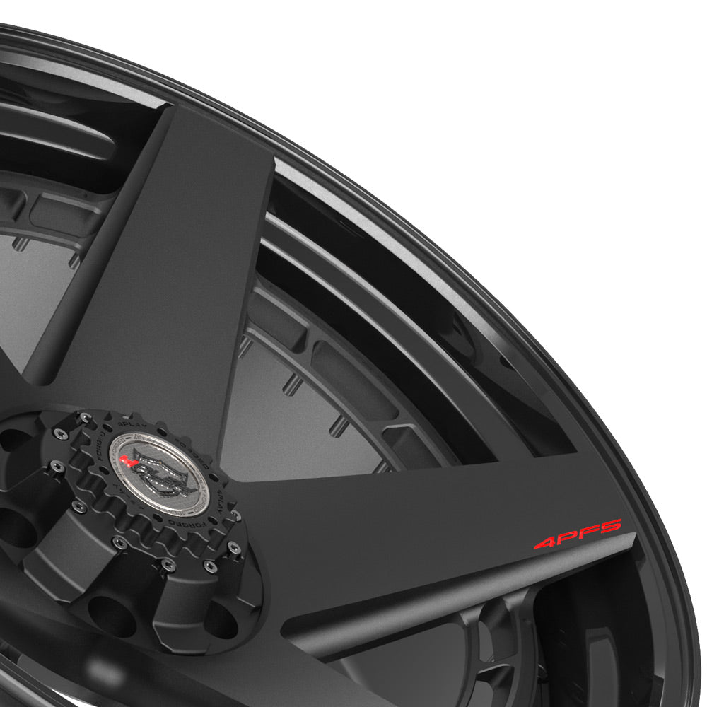 22x10 4PLAY Wheel for GM-Ford-Lincoln-Nissan-Toyota 4PF5 - Gloss Black Barrel with Matte Center|Suncoast Wheels high quality affordable replacement rims, replica OEM stock wheels, quality budget rims