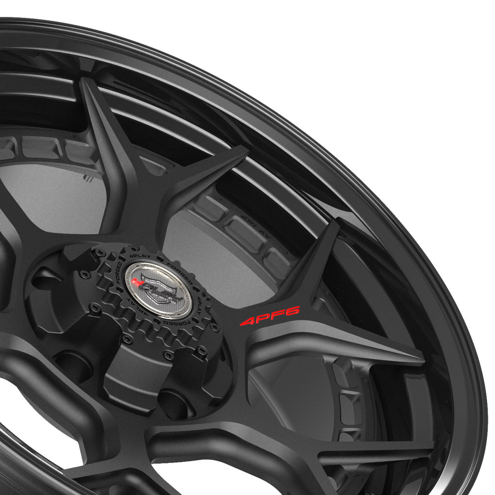 20x9 4PLAY Wheel for Ram-Dodge-Jeep-GM-Ford 4PF6 - Gloss Black Barrel with Matte Center|Suncoast Wheels high quality affordable replacement rims, replica OEM stock wheels, quality budget rims