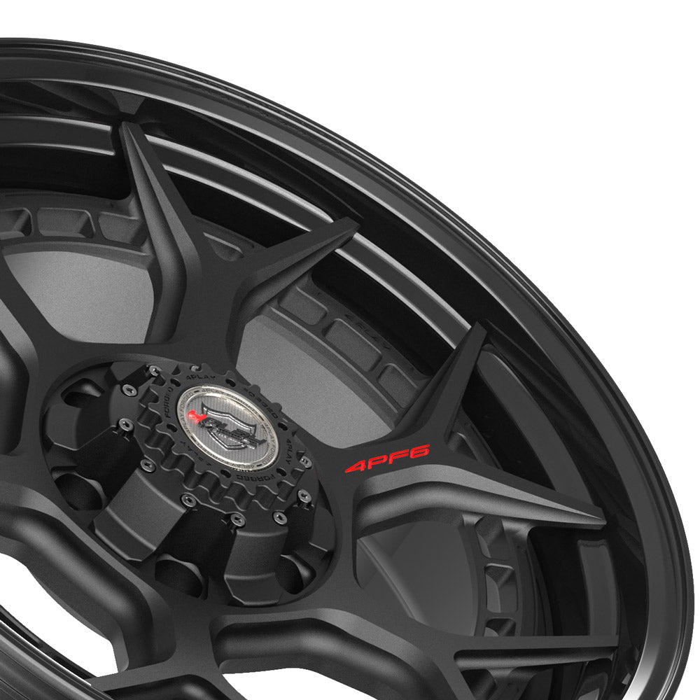 20x9 4PLAY Wheel for GM-Ford-Lincoln-Nissan-Toyota 4PF6 - Gloss Black Barrel with Matte Center|Suncoast Wheels high quality affordable replacement rims, replica OEM stock wheels, quality budget rims