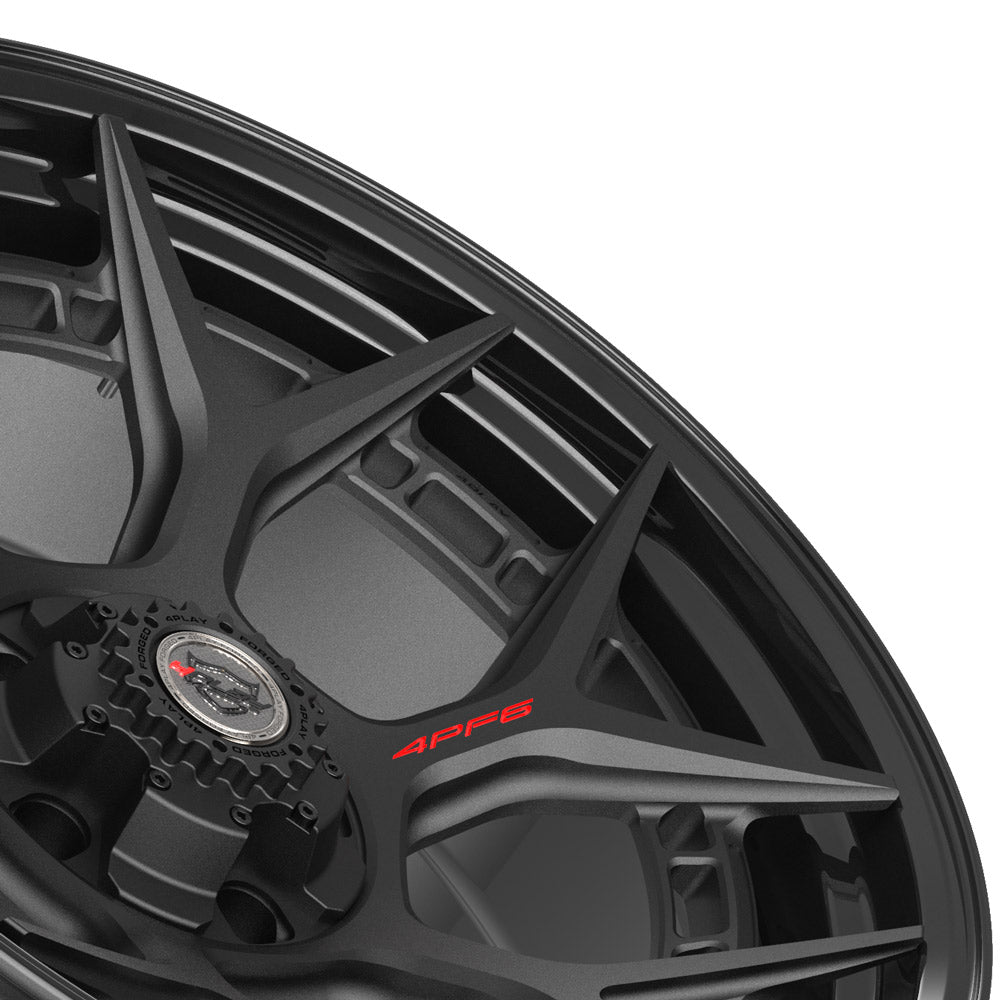 22x10 4PLAY Wheel for Ram-Dodge-Jeep-GM-Ford 4PF6 - Gloss Black Barrel with Matte Center|Suncoast Wheels high quality affordable replacement rims, replica OEM stock wheels, quality budget rims