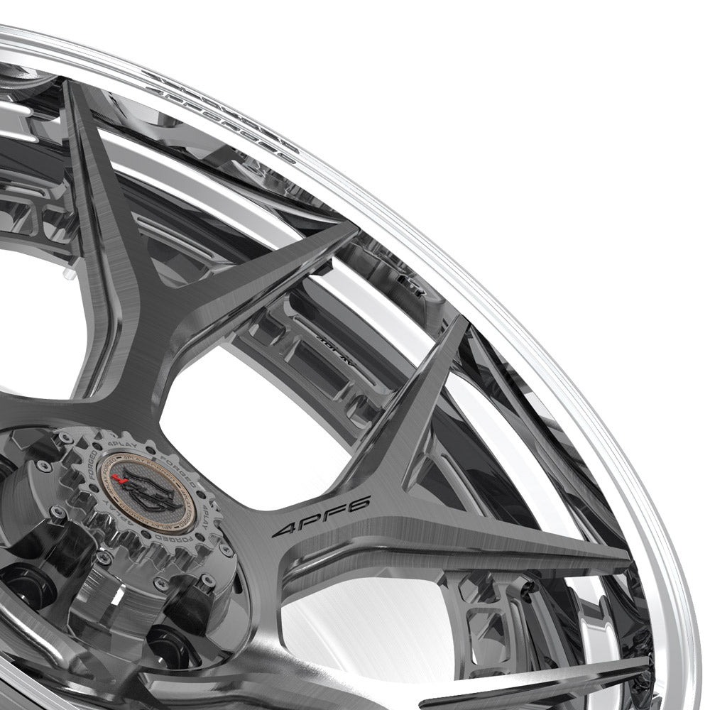 22x10 4PLAY Wheel for Ram-Dodge-Jeep-GM-Ford 4PF6 - Polished Barrel with Tinted Clear Center|Suncoast Wheels high quality affordable replacement rims, replica OEM stock wheels, quality budget rims