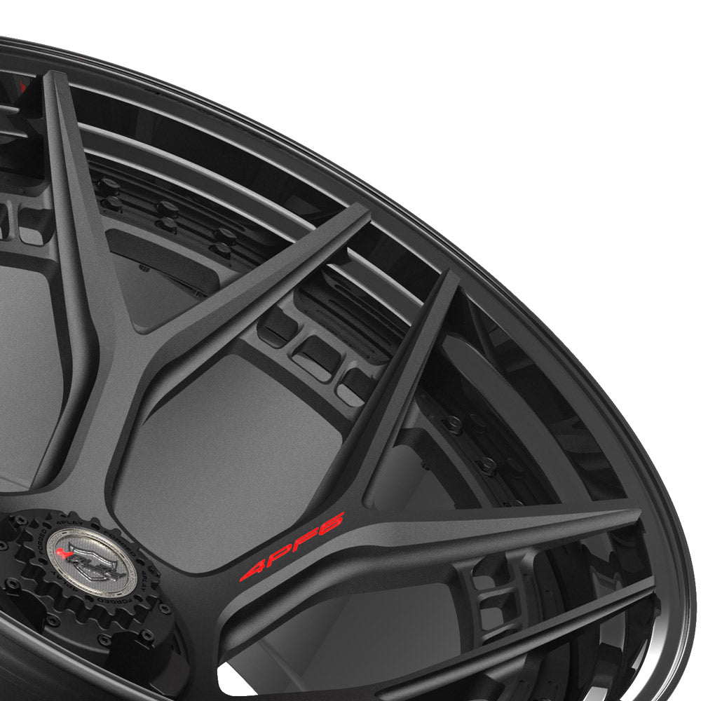 24x14 4PLAY Wheel for Ram-Dodge-Jeep-GM-Ford 4PF6 - Gloss Black Barrel with Matte Center|Suncoast Wheels high quality affordable replacement rims, replica OEM stock wheels, quality budget rims