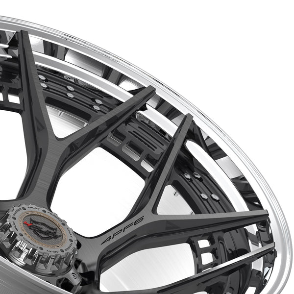 24x14 4PLAY Wheel for Ford 4PF6 - Polished Barrel with Tinted Clear Center|Suncoast Wheels high quality affordable replacement rims, replica OEM stock wheels, quality budget rims