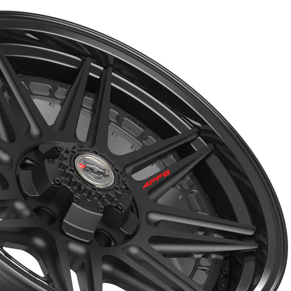 20x9 4PLAY Wheel for Ram-Dodge-Jeep-GM-Ford 4PF8 - Gloss Black Barrel with Matte Center|Suncoast Wheels high quality affordable replacement rims, replica OEM stock wheels, quality budget rims