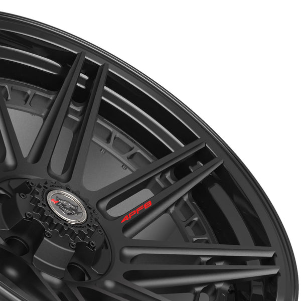 22x10 4PLAY Wheel for Ram-Dodge-Jeep-GM-Ford 4PF8 - Gloss Black Barrel with Matte Center|Suncoast Wheels high quality affordable replacement rims, replica OEM stock wheels, quality budget rims