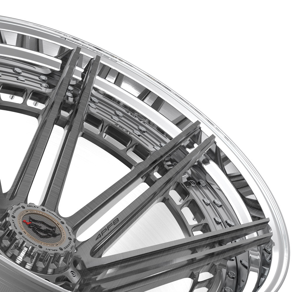 24x14 4PLAY Wheel for Ford 4PF8 - Polished Barrel with Tinted Clear Center|Suncoast Wheels high quality affordable replacement rims, replica OEM stock wheels, quality budget rims