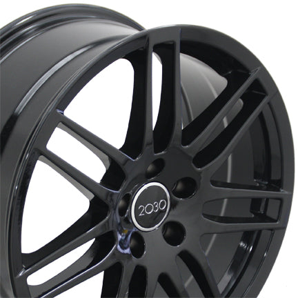 "18"" Fits Audi - RS4 Wheel - Black 18x8 