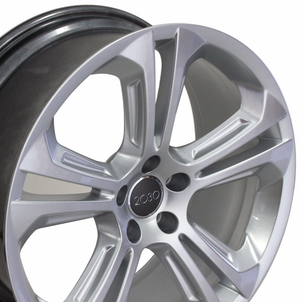 "20"" Fits Audi - Q5 Style Replica Wheel - Hyper Silver 2x8.5 