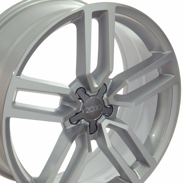 "20"" Fits Audi - SQ5 Style Replica Wheel - Silver Mach'd Face 2x8.5 