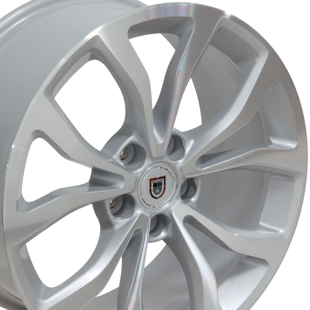 "18"" Fits Cadillac - ATS Style Replica Wheel - Silver Mach'd Face 18x8 