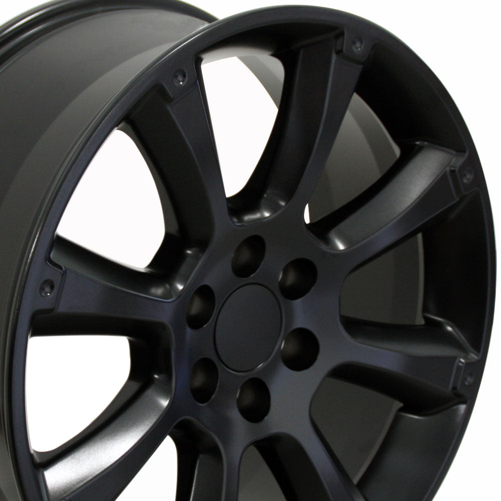 "22"" Fits Cadillac - Escalade Style Replica Wheel - Satin Black 22x9 