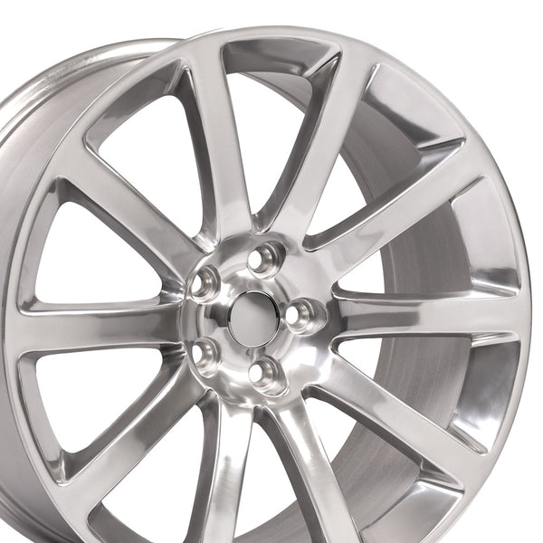Fits Chrysler 300 SRT Rim - CL02 20x9 Polished Silver Inlay Chrysler 300 Wheel