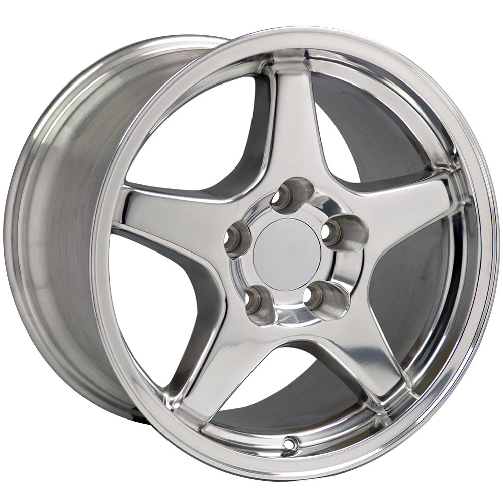 "17"" Fits Chevrolet - Corvette ZR1 Wheel - Polished 17x9.5 