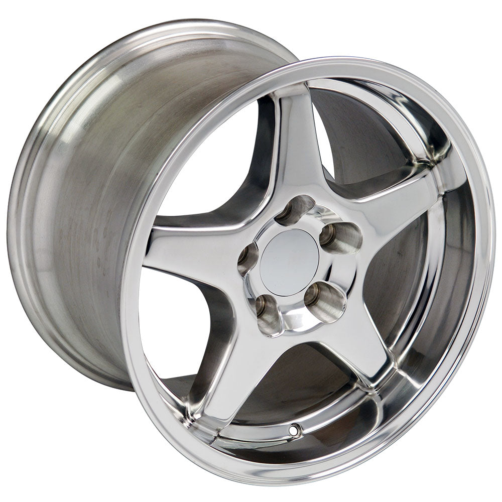 "17"" Fits Chevrolet - Corvette ZR1 Wheel - Polished 17x11 