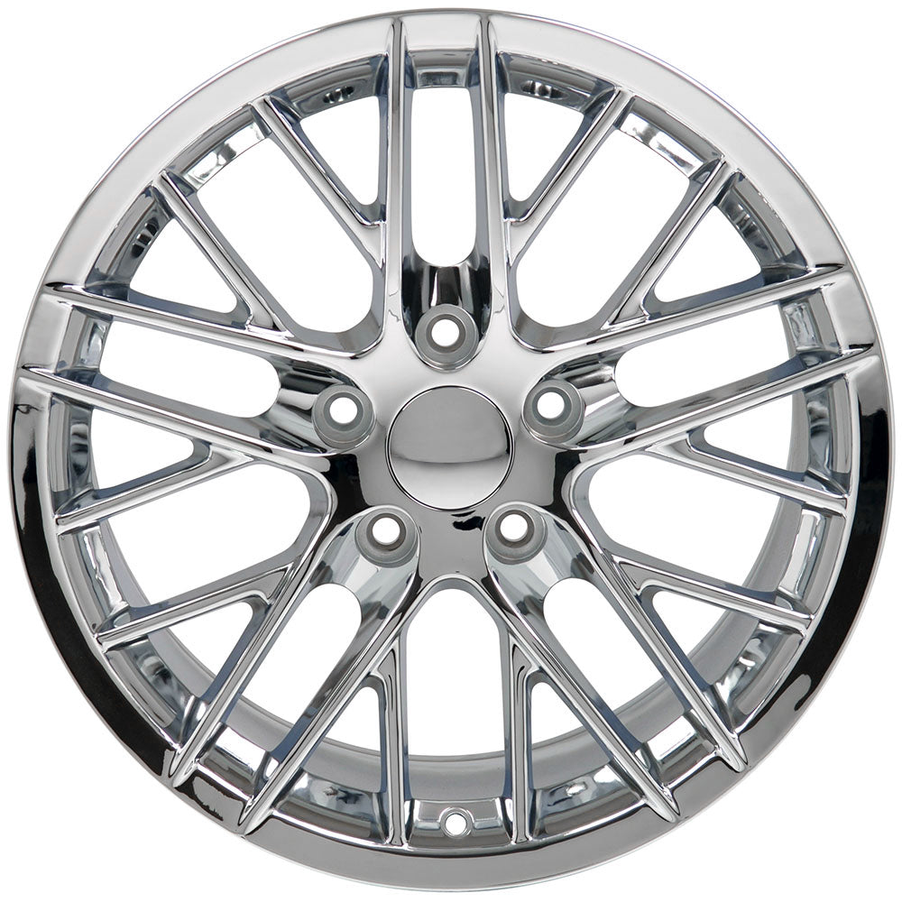 "18"" Fits Chevrolet - Corvette C6 ZR1 Style Replica Wheel - Chrome 18x8.5 