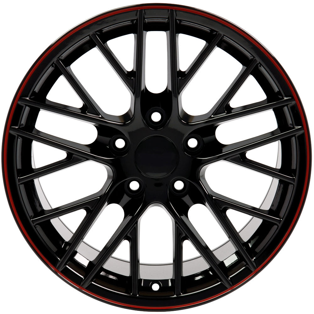 "18"" Fits Chevrolet - Corvette C6 ZR1 Wheel - Black 18x8.5 