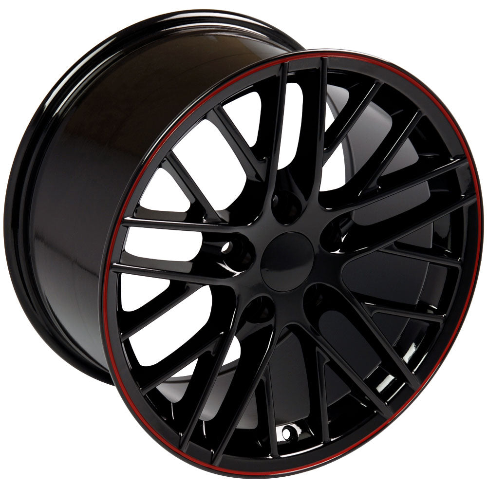 "19"" Fits Chevrolet - Corvette C6 ZR1 Wheel - Black 19x1 