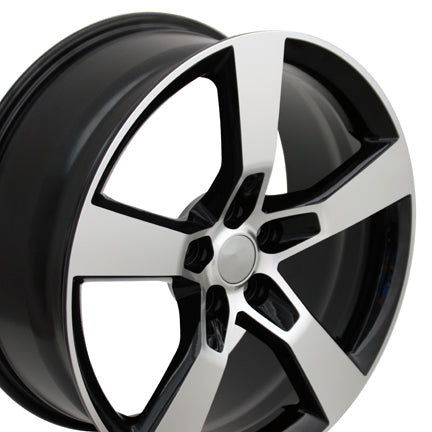 "20"" Fits Chevrolet - Camaro SS Style Replica Wheel - Black Mach'd Face 2x8 