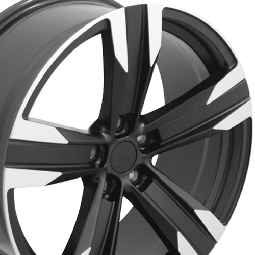 "20"" Fits Chevrolet - Camaro ZL1 Wheel - Satin Black Mach'd Face 2x9.5 