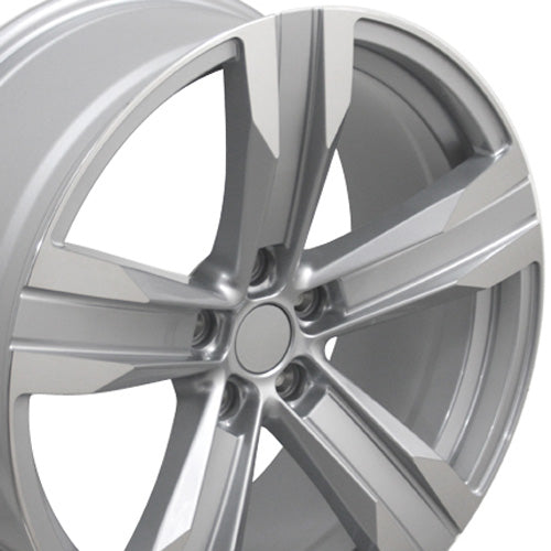 "20"" Fits Chevrolet - Camaro ZL1 Wheel - Silver Mach'd Face 2x9.5 