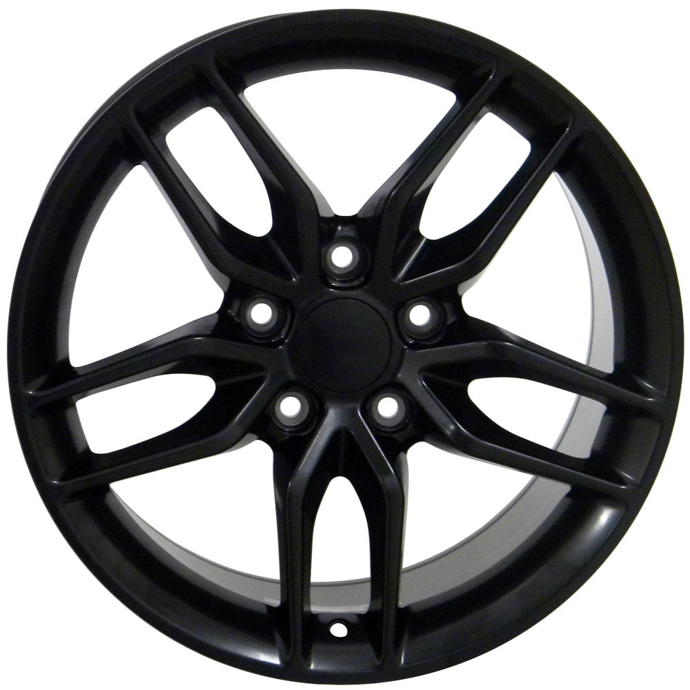 "17"" Fits Chevrolet - Corvette C7 Stingray Style Replica Wheel - Satin Black 17x9.5 