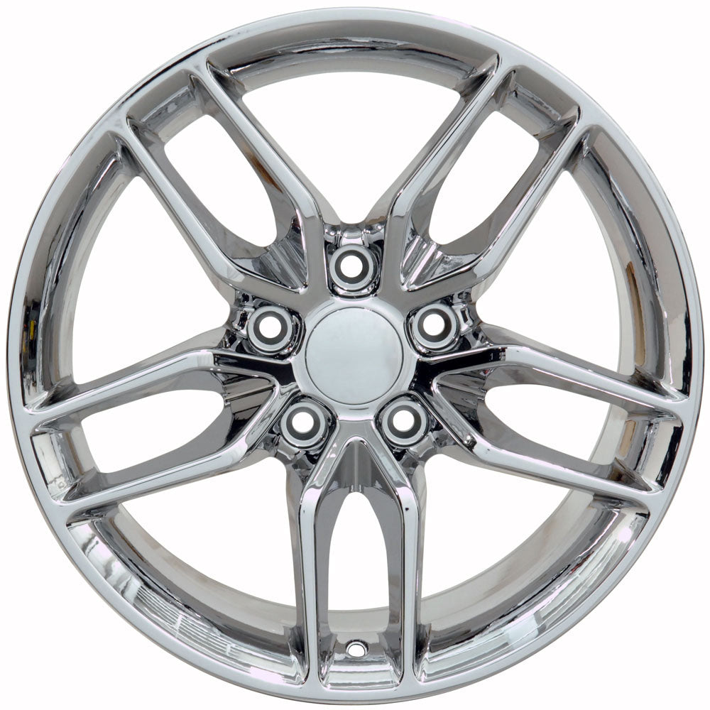 "17"" fits Chevrolet - Corvette Deep Dish Wheel Replica - Chrome 17x9.5 