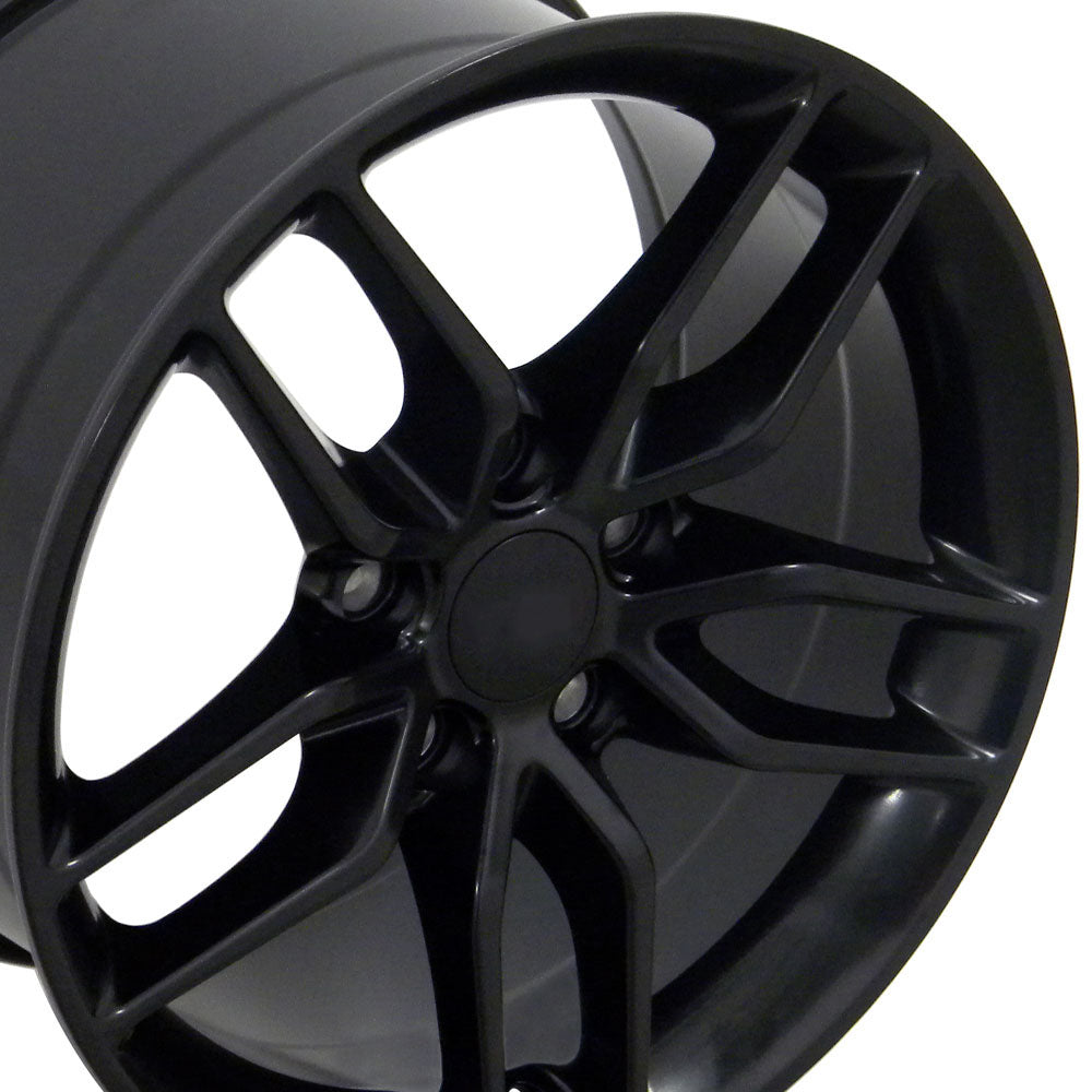 "18"" Fits Chevrolet - Corvette Stingray Style Replica Wheel - Satin Black 18x1.5 