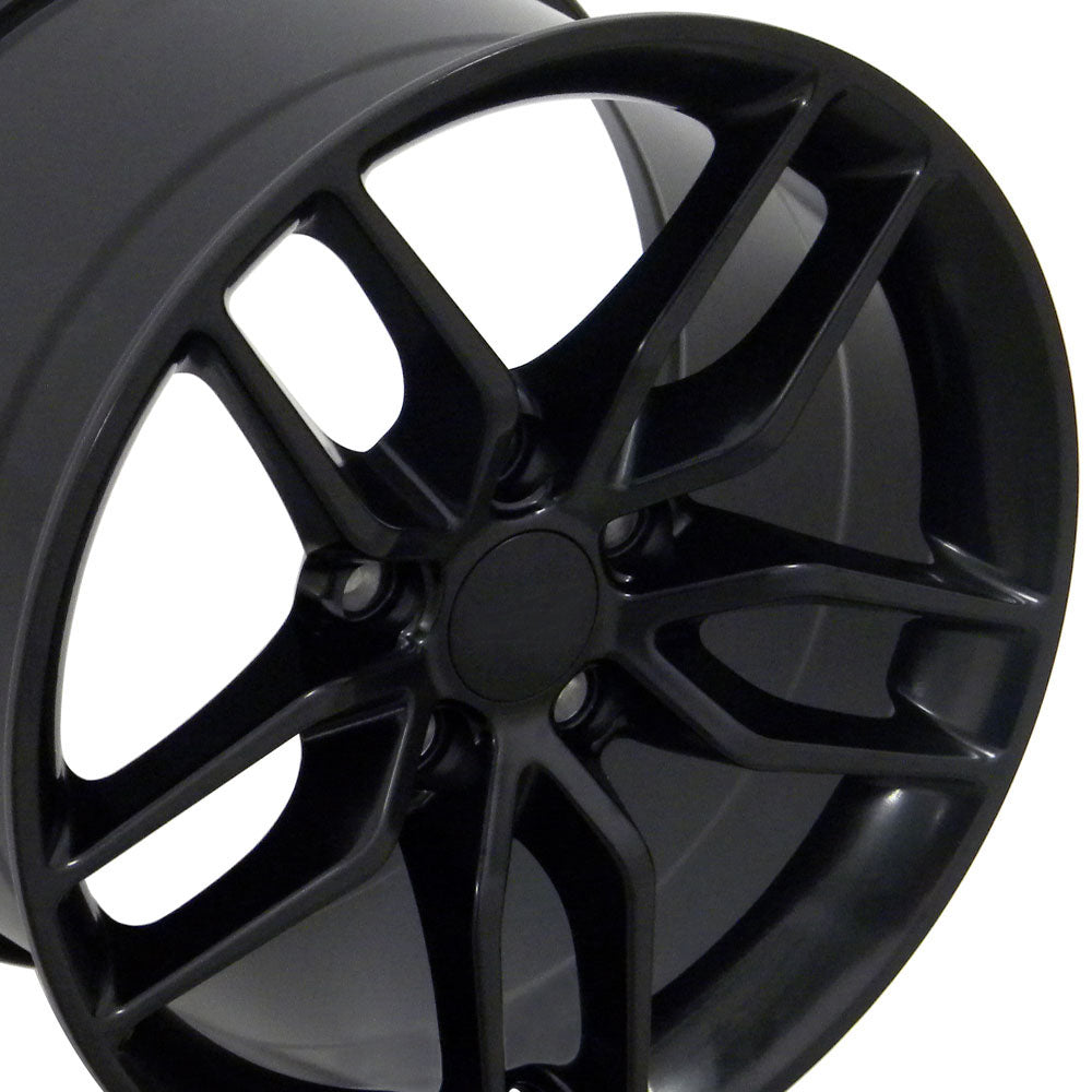 "19"" Fits Chevrolet - Corvette Stingray Style Replica Wheel - Satin Black 19x1 
