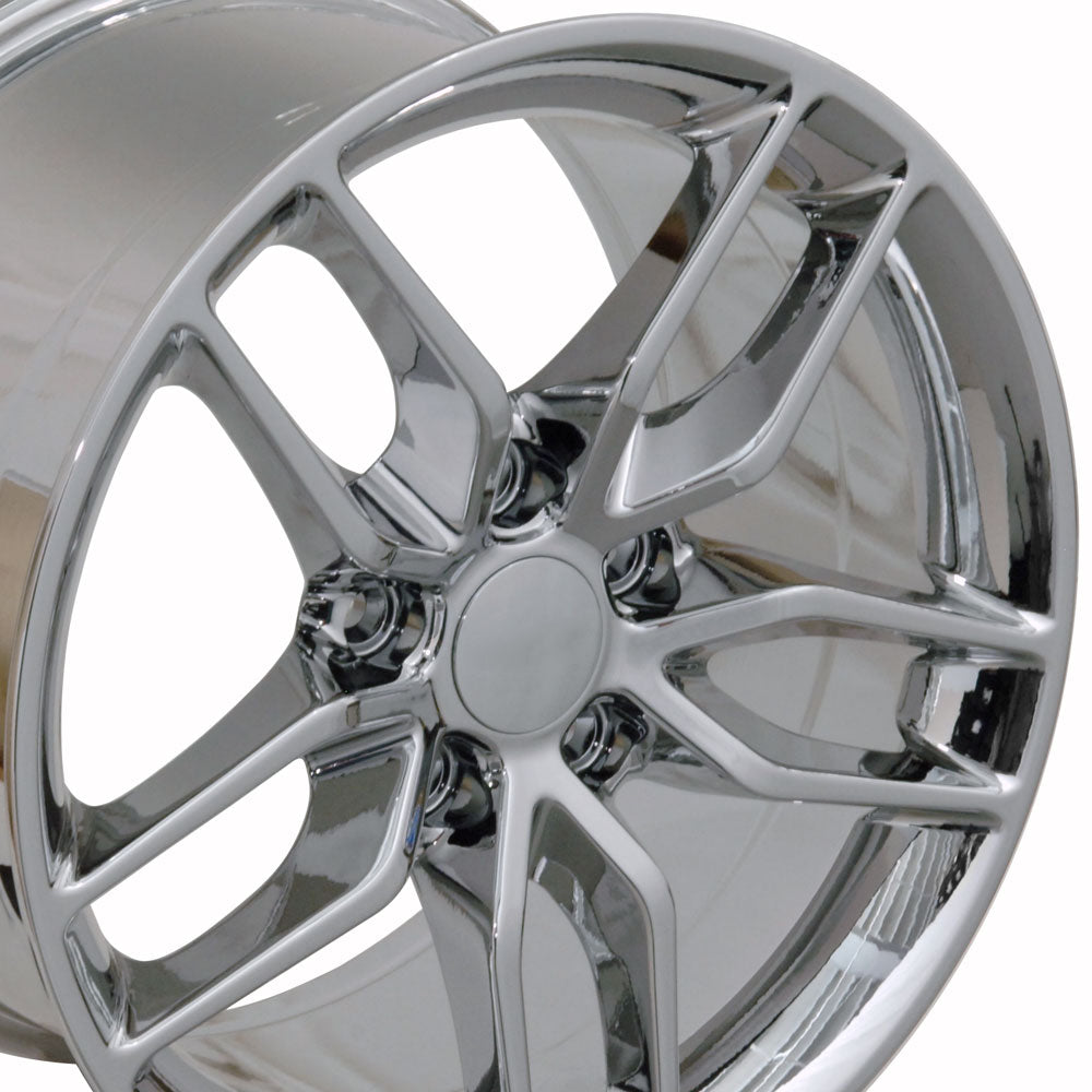 "19"" Fits Chevrolet - Corvette Stingray Style Replica Wheel - PVD Chrome 19x1 