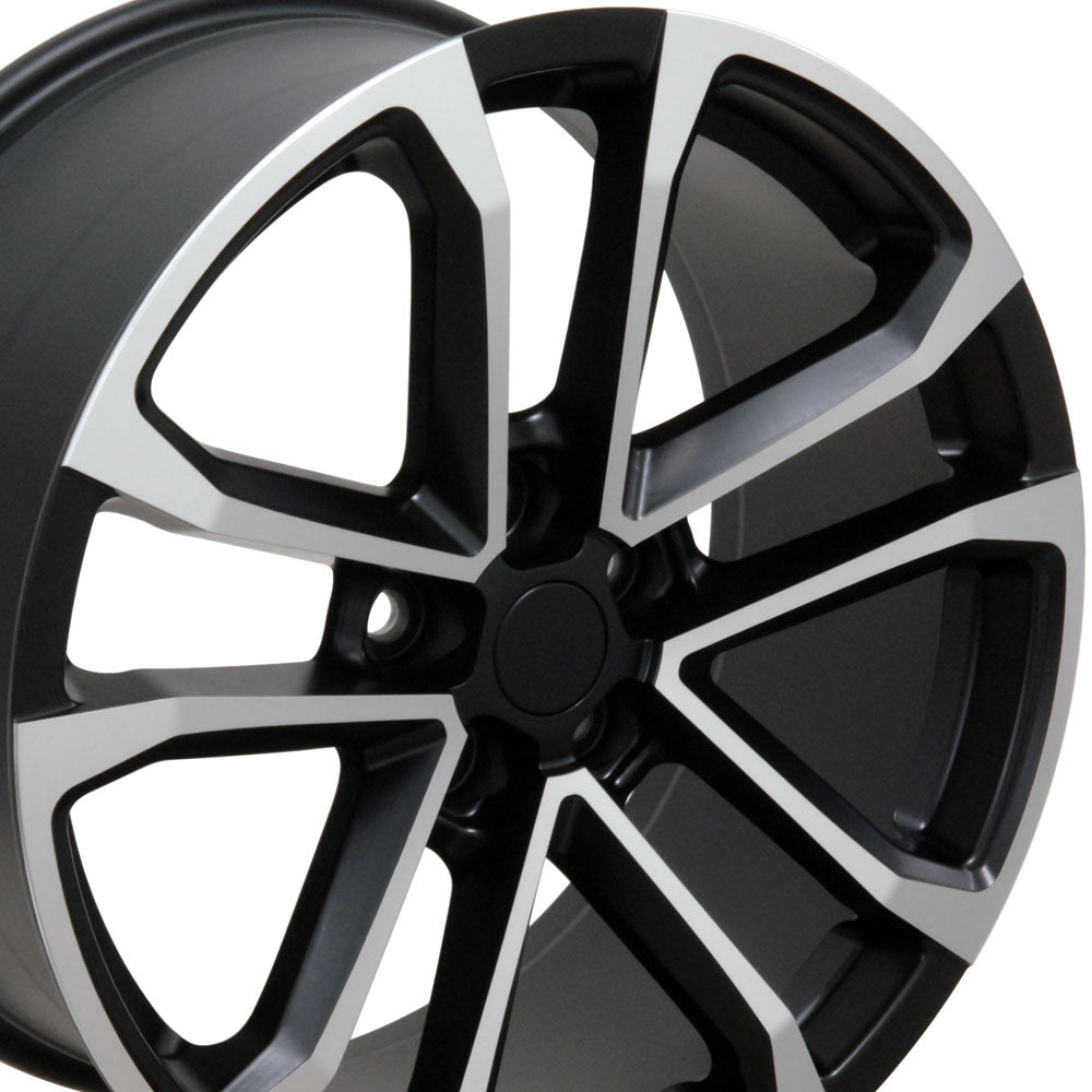 "20"" Fits Chevrolet - Camaro ZL1 Style Replica Wheel - Satin Black with a Mach'd Face 2x9.5 