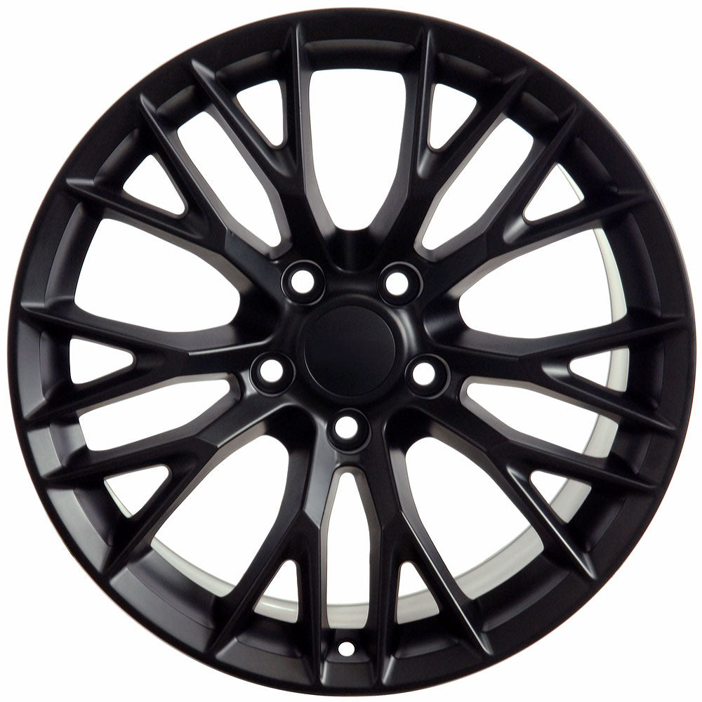 "18"" Fits Chevrolet - C7 Z6 Style Replica Wheel - Satin Black 18x1.5 