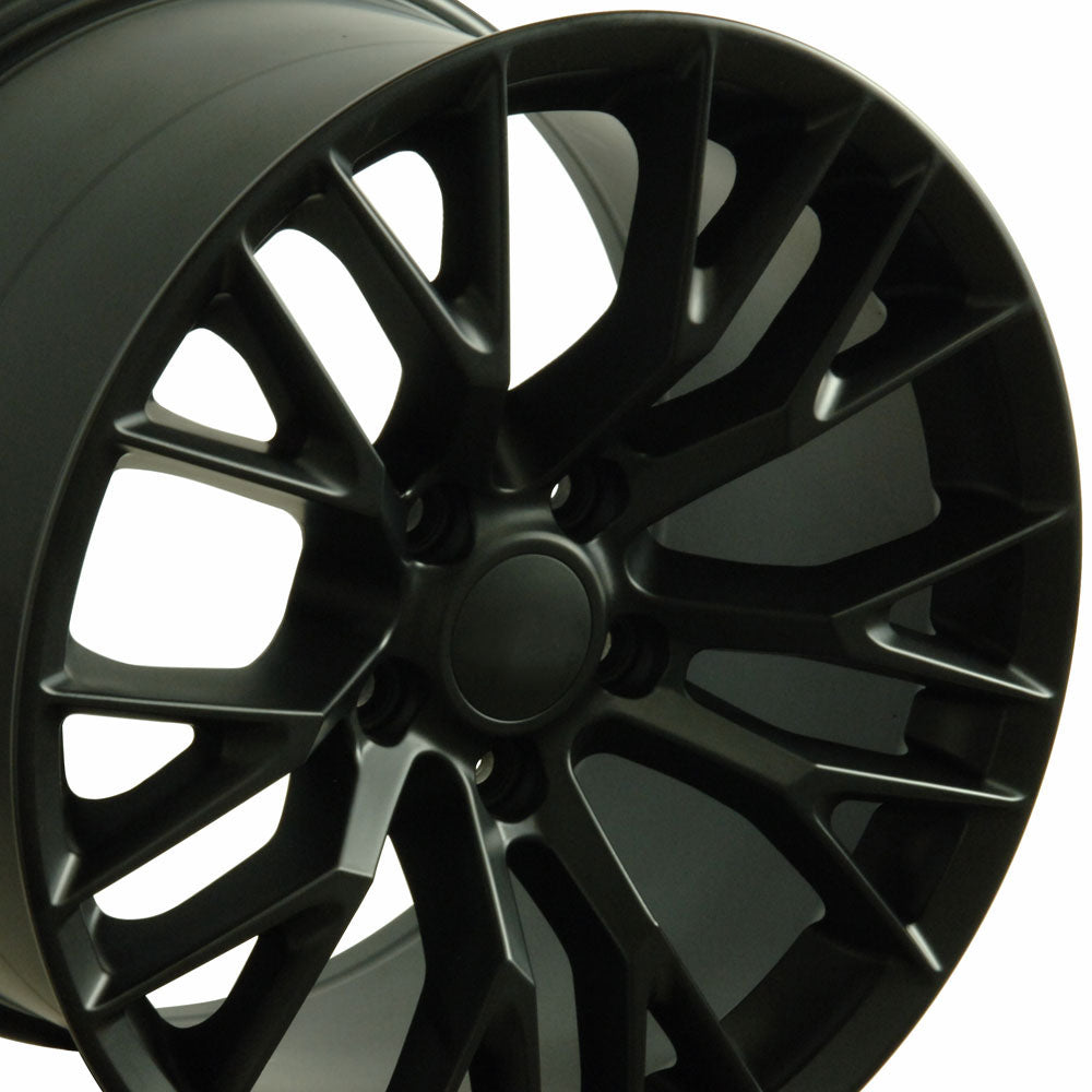 "19"" Fits Chevrolet - C7 Z6 Style Replica Wheel - Satin Black 19x1 