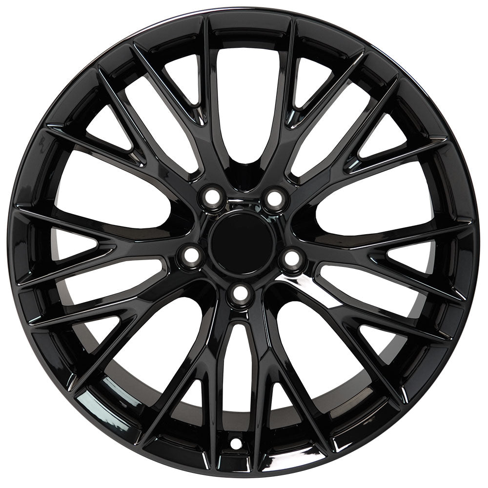 "18"" fits Chevrolet - C7 Z6 Replica Wheel - PVD Black Chrome 18x8.5 