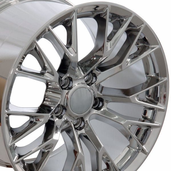 "19"" Fits Chevrolet - Corvette C7 Z6 Style Replica Wheel - Chrome 19x1 